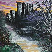 Castle Ruins At Dawn Art Print