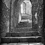 Castle Subterranean Staircase Art Print