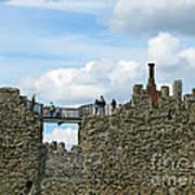 Castle Wall Walk Art Print