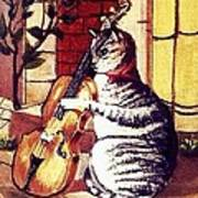 Cat And The Fiddle Art Print