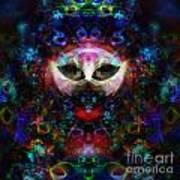 Cat Carnival Print by Klara Acel