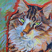 Cat Commission Print by Jenn Cunningham