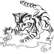 Cat- Cute Kitty  Art Print