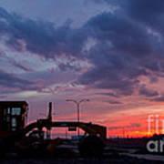 Cat Grader Sunset Silhouette Print by Alanna DPhoto