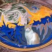 Cat In Doorway Fantasy Art Print