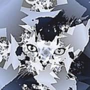 Cat In Fractaldesign Art Print