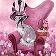Cat In Mad Hatter Hat Art Print by Carol Cavalaris