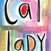 Cat Lady Print by Linda Woods