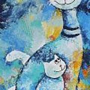 Cat Mommy Art Print
