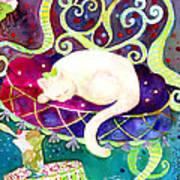 Cat N Ice Cream Art Print