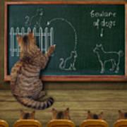 Cat Teacher And His Pupils... :) Art Print