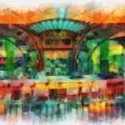 Catal Outdoor Cafe Downtown Disneyland Photo Art 01 Art Print