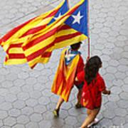 Catalan National Day 2014 Art Print
