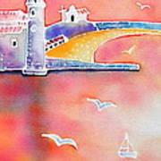 Catalan Sunset Art Print