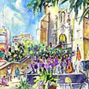 Catalonia Day In Llansa Art Print