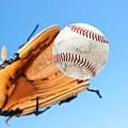 Catching A Baseball Art Print by Joe Belanger