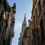 Catching A Glimpse Of Grand Place Brussels Belgium Art Print
