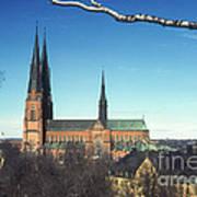 Cathedral At Uppsala Art Print