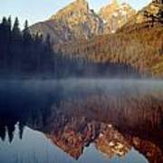 4m9304-cathedral Group Reflection, Tetons, Wy Art Print