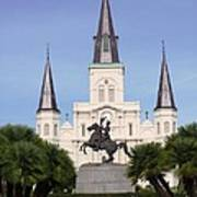 Cathedral In Jackson Square Art Print