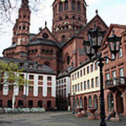 Cathedral - Mainz Art Print