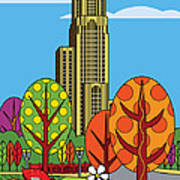 Cathedral Of Learning Art Print by Ron Magnes