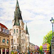 Cathedral Plaza - Jackson Square, French Quarter Art Print