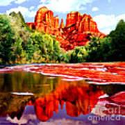 Cathedral Rock Sedona Arizona Art Print