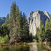 Cathedral Rocks In Yosemite Art Print