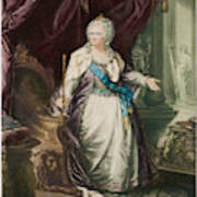 Catherine The Great  Empress Of Russia Art Print