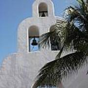 Catholic Church Playa Del Carmen Art Print