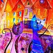 Cats 0366 Marucii Art Print