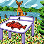 Cat's Fish - Cedar Key Art Print