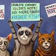Cats On Strike Edit 2 Art Print