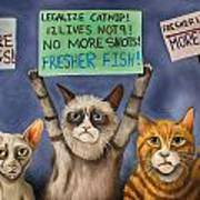 Cats On Strike Edit 3 Art Print