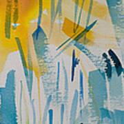 Cattail Sun Art Print