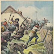 Caucasus Rebels Fight  Government Troops Art Print