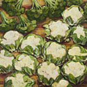 Cauliflower March Art Print by Jen Norton