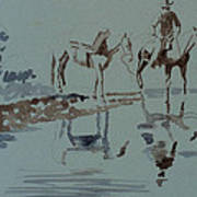 Cautious Creek Crossing Art Print