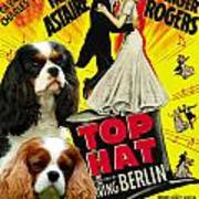 Cavalier King Charles Spaniel Art - Top Hat Movie Poster Art Print