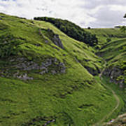 Cave Dale From Peveril Castle Art Print