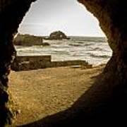 Cave View Of Rocks Near San Francisco Ca Cliff House Art Print