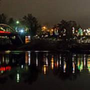 Caveman Bridge And Taprock At Christmas - Panorama Art Print