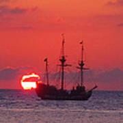 Cayman Sunset Art Print by Carey Chen