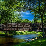 Cedar Creek Bridge Art Print