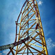 Cedar Point Top Thrill Dragster Framed Print