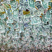 Ceiling Of Dollar Bills  Art Print