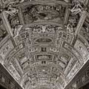 Ceiling Of Hall Of Maps Art Print
