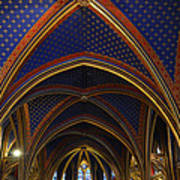 Ceiling Of The Sainte-chapelle  Paris Art Print