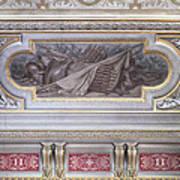 Ceiling Study Chateau De Chantilly Art Print